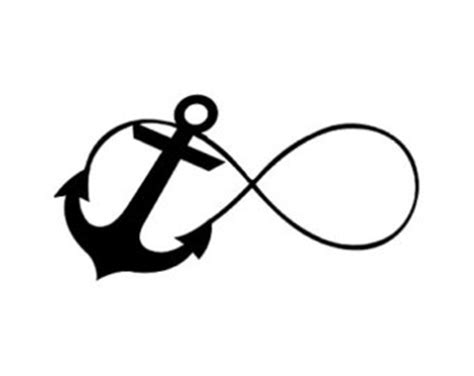 infinity sign with anchor drawings images & pictures becuo