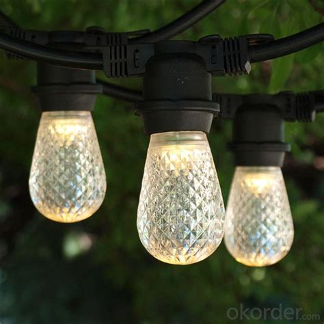 Buy Incandescent S14 Globe Bulbs 48 Feet Black Wire Italian String Lights