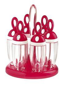 portaspezie girevole guzzini portaspezie girevole rosso accessori