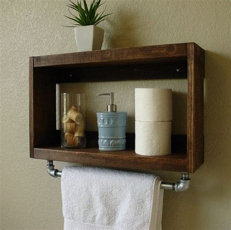 bathroom wall shelf ideas the home depot simply modern rustic bathroom shelf w 18