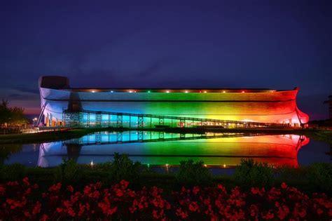 Awesome Christmas Lights Montreal #7: Ken-ham-rainbow-lights-on-ark.jpg