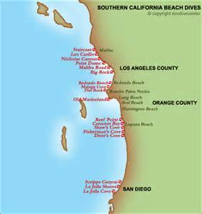 southern california map of beaches southern california s best scuba diving