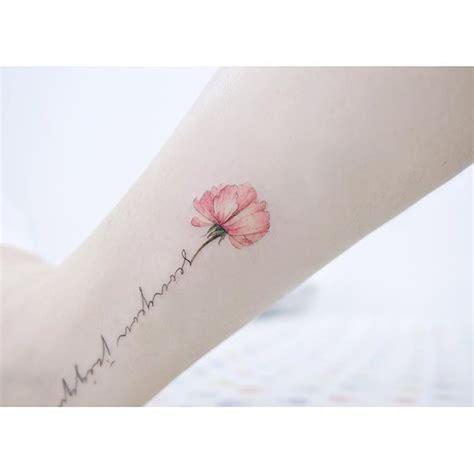 tattoo flower with stem grandmas handwriting as stem tattoos pinterest
