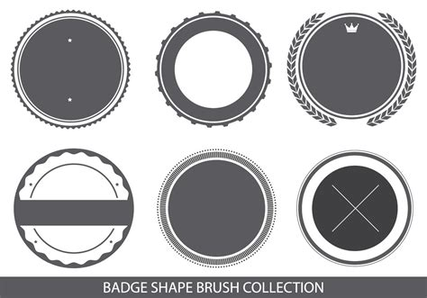 shape pattern brushes photoshop badge shapes brush collection free photoshop brushes at