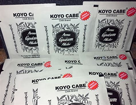 Koyo Cabe Pak By Cngshop koyo cabe chilli brand porous capsicum plester 90