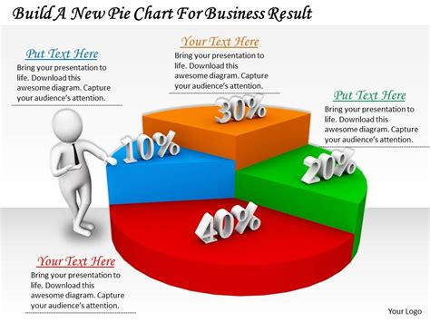 0214 Build A New Pie Chart For Business Result Ppt Graphics Icons Powerpoint Powerpoint Catchy Powerpoint Templates