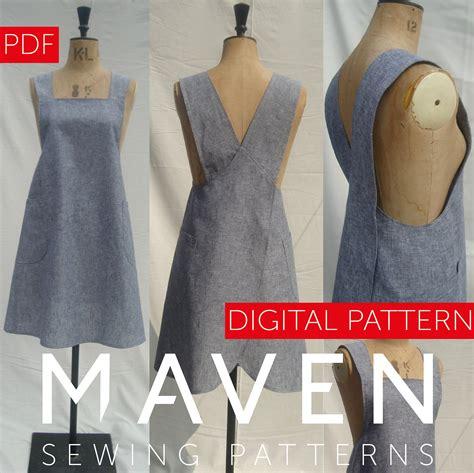 japanese apron pattern uk the maria wrap apron pdf sewing pattern japanese apron