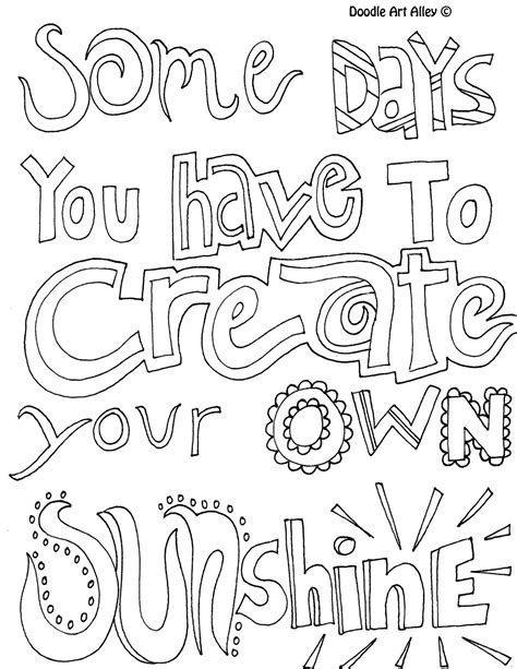 printable doodle quotes all quotes coloring pages great quotes doodle page great