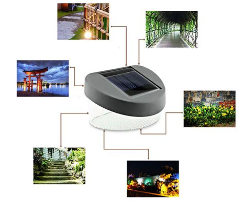 Wholesale Upgraded New Design Outdoor Solar Powered 8 Led Solar Powered Lights Warm White