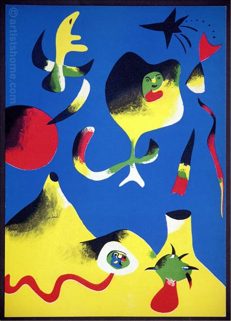 cuadros de juan miro joan miro original lithograph the air quot l air quot 1937