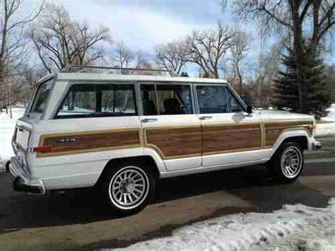jeep wagoneer white buy used beautiful white 1989 jeep grand wagoneer with