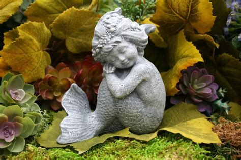 little mermaid garden statue merissa concrete