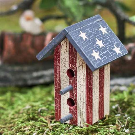 2 1 2 quot primitive americana birdhouse americana decor