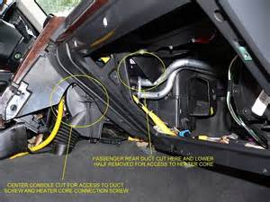 brazeau racing range rover p38 heater core replacement