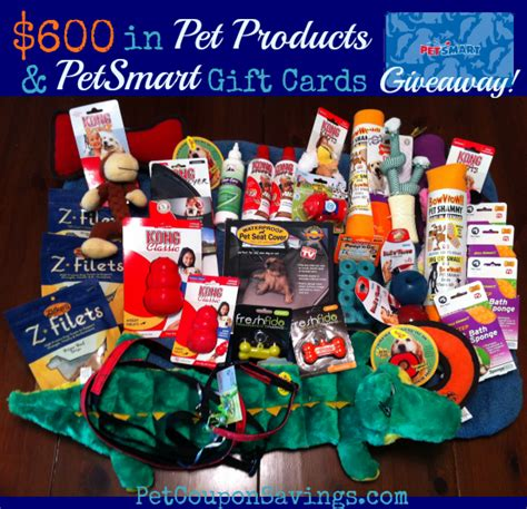 Petsmart Gift Card Balance Check - pet coupon savings huge giveaway 600 in pet products and petsmart gift cards