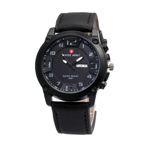 Jam Tangan Pria Swiss Army Tanggal Hari Black Angka White 3 jual swiss army 002 jam tangan pria black harga