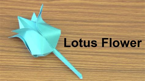 How To Make Paper Lotus - origami how to make paper flowers origami lotus flower