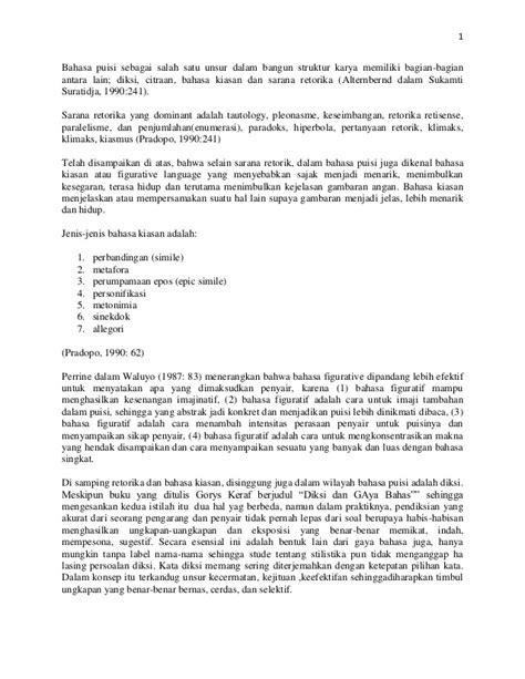 Komposisi Goris Keraf diksi dan gaya bahasa