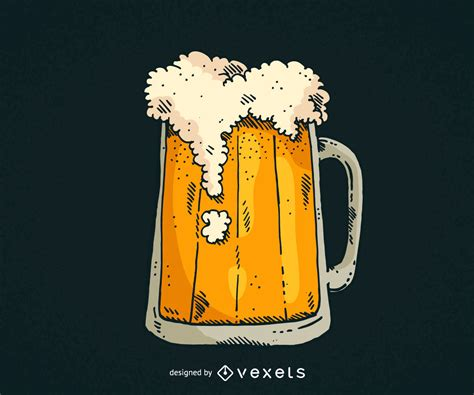 beer vector hand drawn beer mug vector download