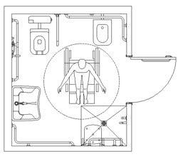 bagni disabili cad bagni per diversamente abili accessibilit 224 dwg