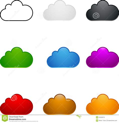 colored time colored cloud set royalty free stock images image 22502679