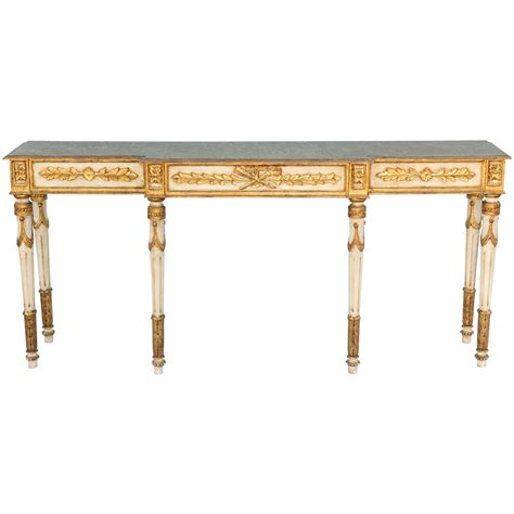 long thin sofa table long and narrow painted louis xvi style console table at