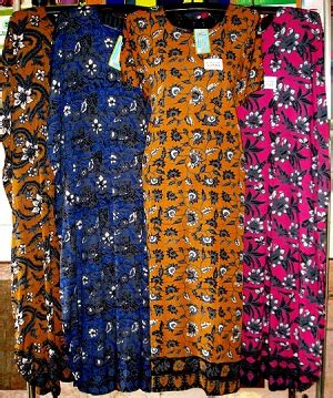 Daster Kencana Ungu K36 1 produsen daster batik kencana ungu murah