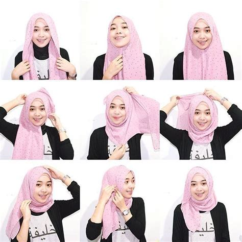 tutorial hijab pashmina sifon motif simple tutorial hijab pashmina simple modern untuk kerja