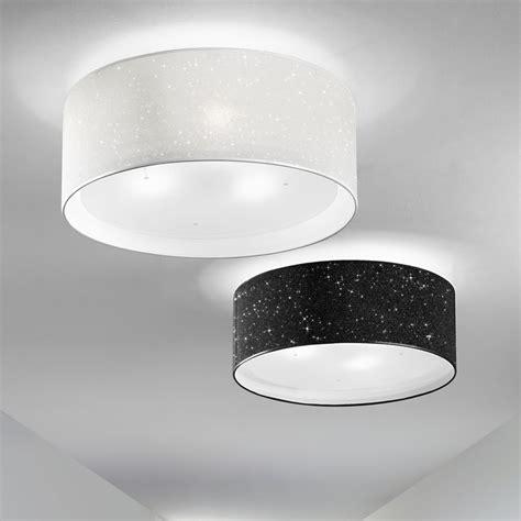 plafoniera da soffitto lada plafoniera paralume moderno glitter antea luce