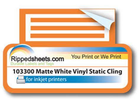 printable vinyl cling sheets 103300 matte white vinyl static cling sheets