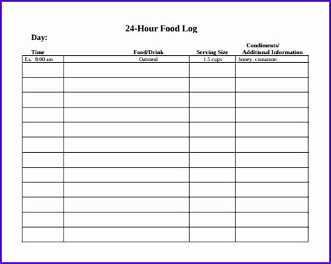14 Food Journal Template Excel Exceltemplates Exceltemplates Diary Template Docs