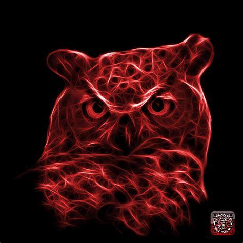 Owl Decor red owl 4436 f m digital art by james ahn