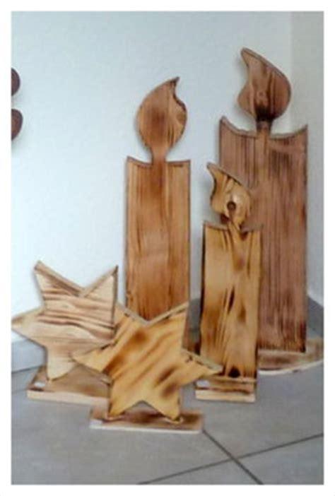 Kerzen Wandhalter Holz by Kerzen Und Sterne Aus Holz Gefl 228 Mmt Weihnachtsdekoration