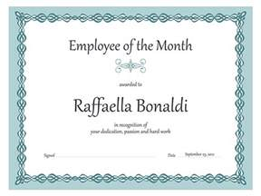 Free Employee Of The Month Certificate Template by Employee Of The Month Certificate Sle Of Employee Of