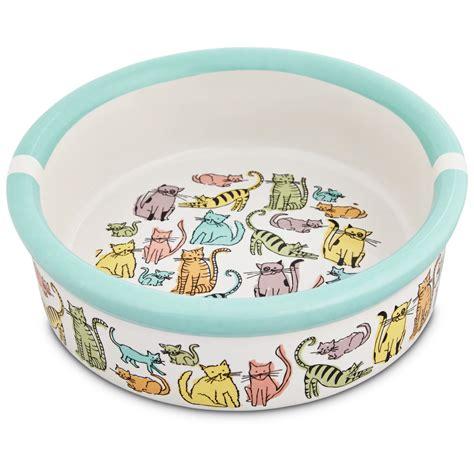 1 Pet Dishes Ceramic - harmony cat town ceramic cat bowl petco