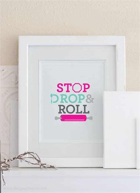 how to design printable wall art free baking printable wall art stop drop and roll