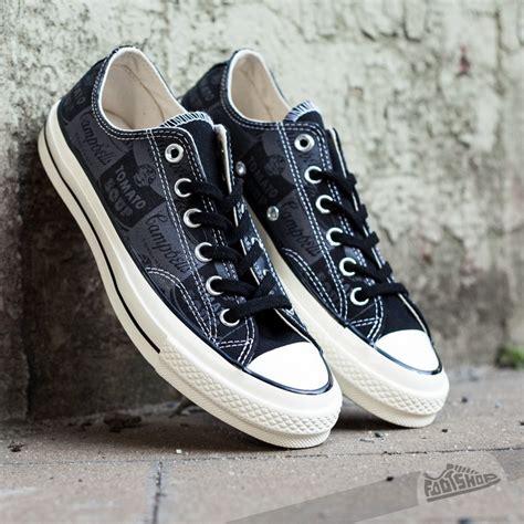 Converse Ox Black Size 37 45 converse ct 70 ox black andy warhol footshop