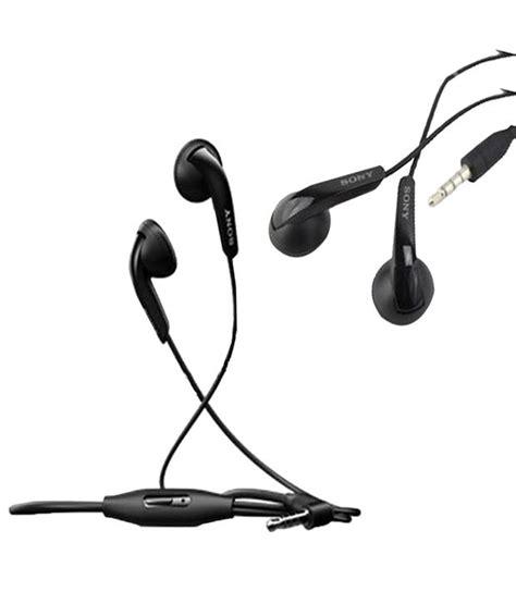 Sony Earphone Mh410c sony mh410c on ear wired earphones with mic black