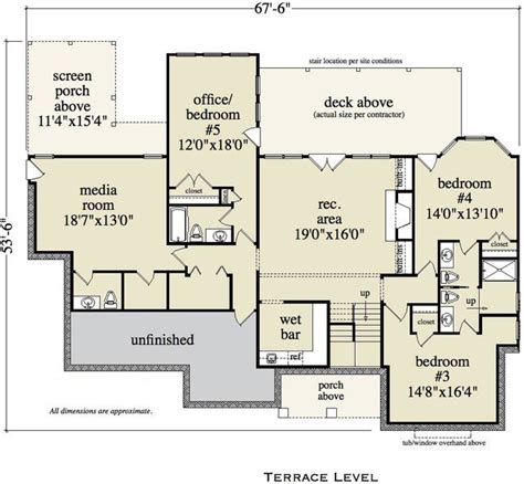 home bar floor plans 5 bedroom 4 bath vacation house plan alp 0952
