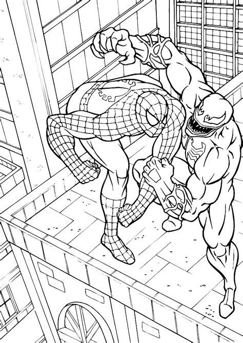 coloring pages spiderman venom spiderman vs venom coloring pages coloring home