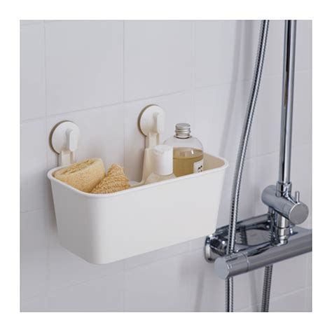 ikea bathroom basket ikea stugvik white bathroom basket with suction cup mounts
