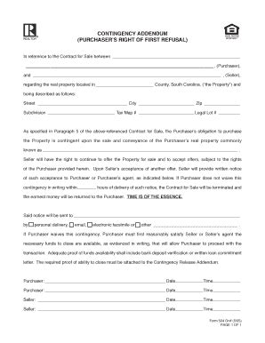 Editable Horse Sale Contract With First Right Of Refusal Fill Print Download Law Forms In Right Of Refusal Contract Template