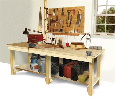 tool benches for garage step by step diy wood garage work bench work bench