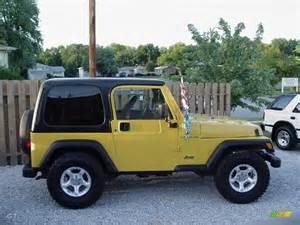 2000 solar yellow jeep wrangler se 4x4 15811362