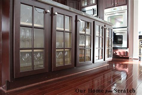 Our Home From Scratch Glass Doors Kitchen Cabinets