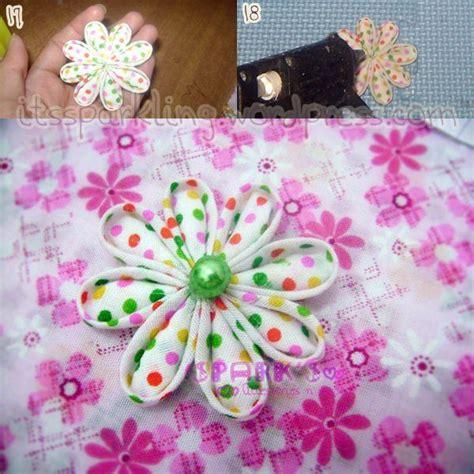 tutorial bunga kanzashi dari flanel tutorial bunga dari perca katun bunga kanzashi just a