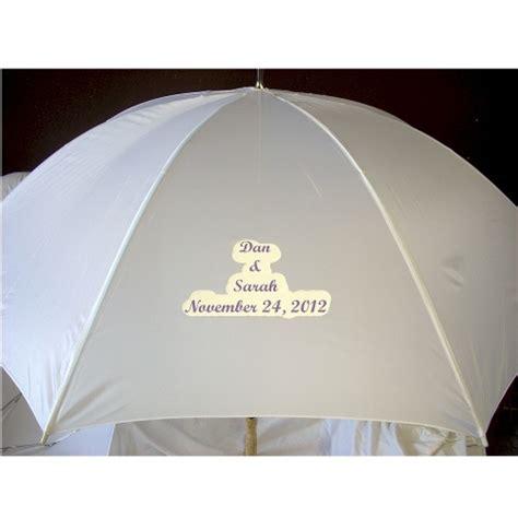 Wedding Umbrellas by Personalized White Wedding Umbrellas For Weddings