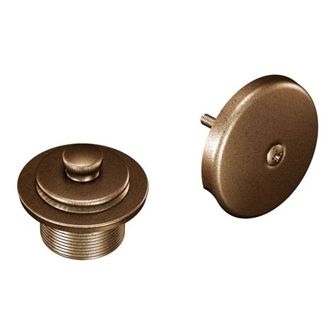 moen tub and shower drain covers in antique bronze