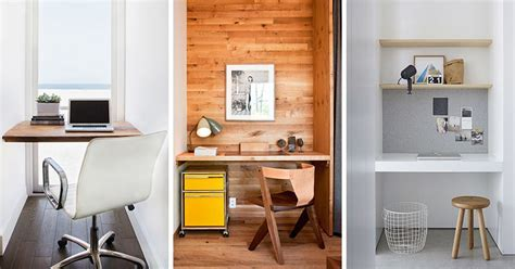 Small Home Office Idea   Make use of a small space and
