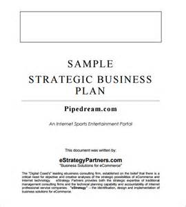 Strategic Business Planning Template by Strategic Business Plan Template 5 Free Word Documents